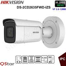 Hikvision 3MP vari-координационного безопасности IP Камера очень низкой освещенности H.265 DS-2CD2635FWD-IZS Пуля CCTV Камера 2.8-12 мм face detection