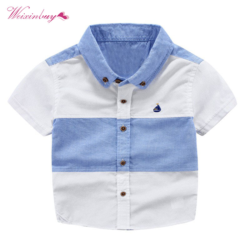 WEIXINBUY Baby Boys Polo Shirt Summer Clothes Kids Cotton Polo Shirts Stripe Boys Shirts Children Clothing electric kettle 304 stainless steel automatic power blackouts home heat water kettles