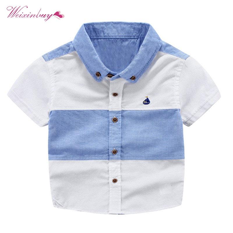 WEIXINBUY Baby Boys Polo Shirt Summer Clothes Kids Cotton Polo Shirts Stripe Boys Shirts Children Clothing ноутбук msi gs72 6qe 426xru stealth pro 2600 мгц 8 гб 1000 гб