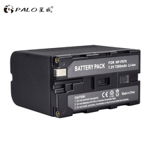 PALO 1pcS High Capacity 7200mAh NP-F960 NP F960 NP-F970 NP F970 Battery Pack For Sony F960 F970 Camera Battery