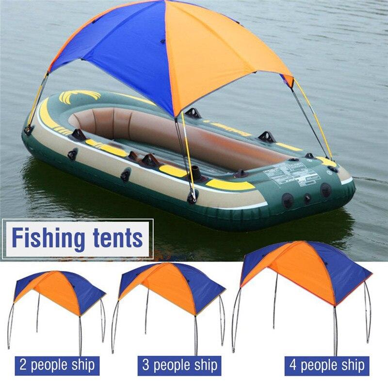 Couverture supérieure 2-4 personnes bateau abri bateau gonflable Kayak accessoires pêche soleil ombre pluie auvent Kayak Kit voilier auvent