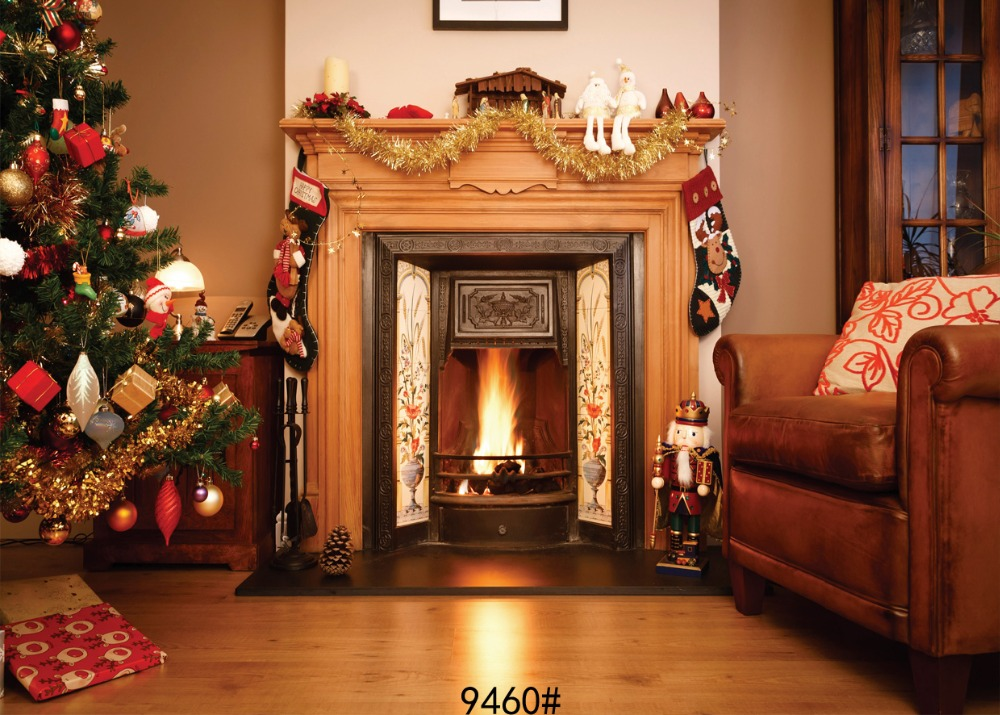 Christmas fireplace photo background  Background photograph  Backgrounds for photo studio Fond studio photo vinyle 210x150cm sjoloon new year fireworks photography background background photograph achtergronden voor fotostudio fond studio photo vinyle