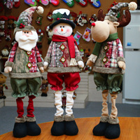 1pcs Christmas Santa Claus Doll Toy Christmas Tree Hanging Ornaments Decoration For Home Xmas Window Decoration 55*25cm