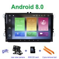 9 4 GB RAM Android 8.0 Car DVD Multimedia for VW Golf 5 6 Passat B5 B6 B7 CC Jetta Touran Tiguan with BT Wifi Radio GPS
