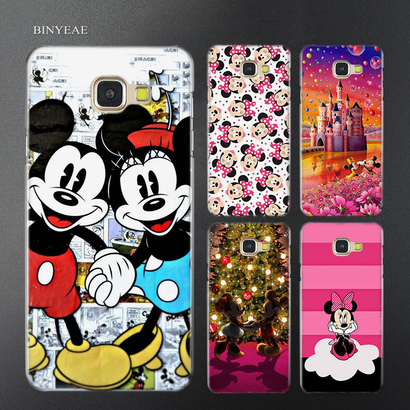 BINYEAE Minnie mouse Transparent Case Cover for Samsung A5 A3 A8 A7 2017 2018 2016