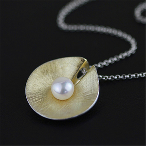 Image 2 - Lotus Fun Real 925 Sterling Silver Natural Pearl Handmade Fine Jewelry Vintage Pendant without Necklace Acessorios for Women