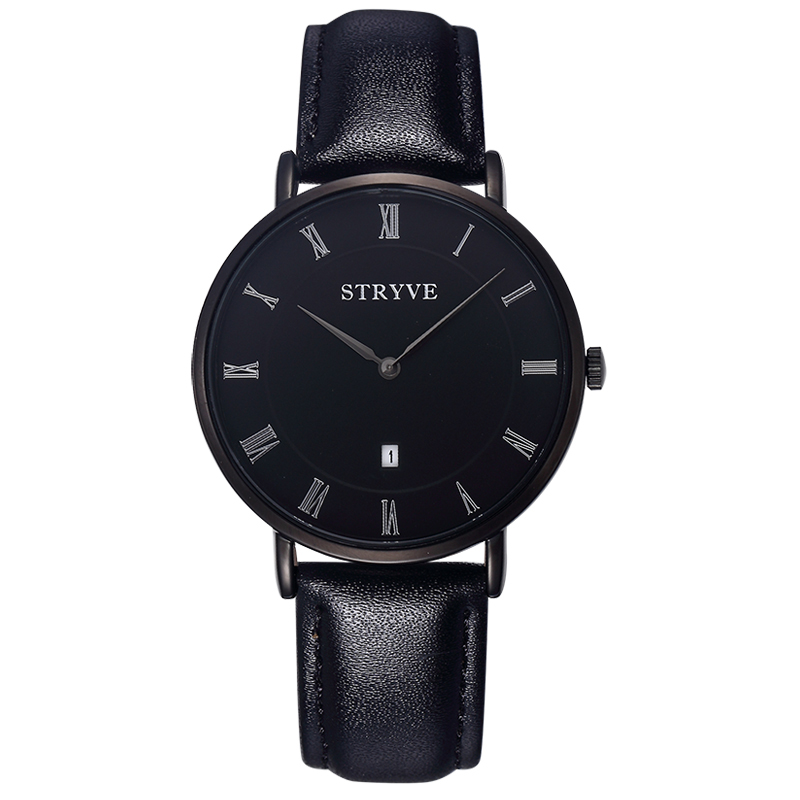 Luxury Brand STRYVE Watches Men 3ATM Waterproof ULTRA-THIN Watches Women 7mm Thick Japan Movement Genuine Leather Reloj Watch