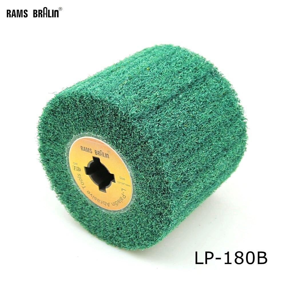 120*100*19mm Non Woven Nylon Flap Brush Satin Polishing Drum Wheel ...