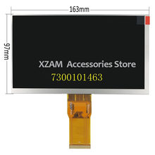 Original 7 inch polegadas 163*97mm 7300101463 e231732 hd 1024*600 tela de exibição lcd para cubo u25gt tablet pc