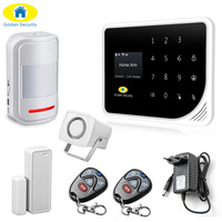 Golden Security Russian Spanish English S5 WIFI GSM 3G Alarm System Security Home GSM Alarm System