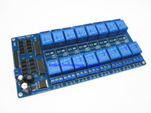12V 16 Channel Relay Module Interface Board PIC ARM DSP PLC With Optocoupler Protection LM2576 Power
