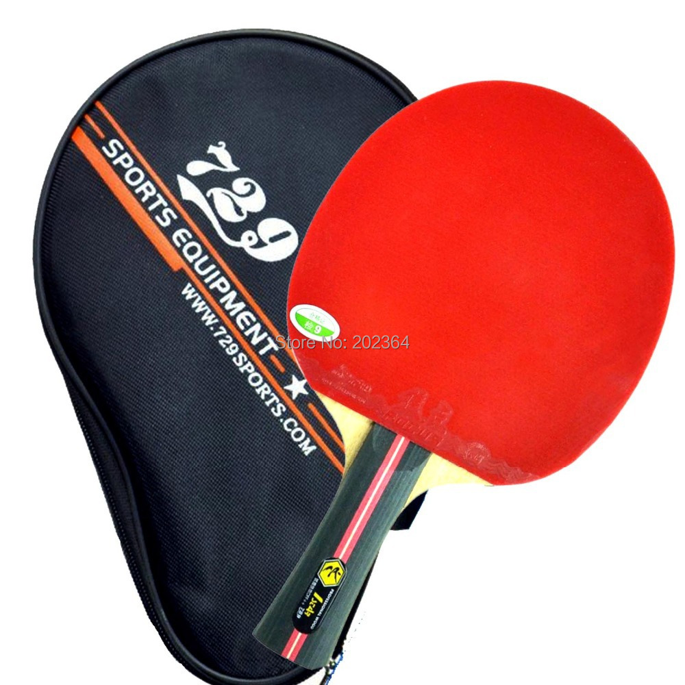 RITC 729 Friendship 1-STAR (1STAR, 1 STAR) Pips-In Table Tennis Racket with Case for PingPong Shakehand long handle FL avalox tb525 tb 525 tb 525 shakehand table tennis pingpong blade
