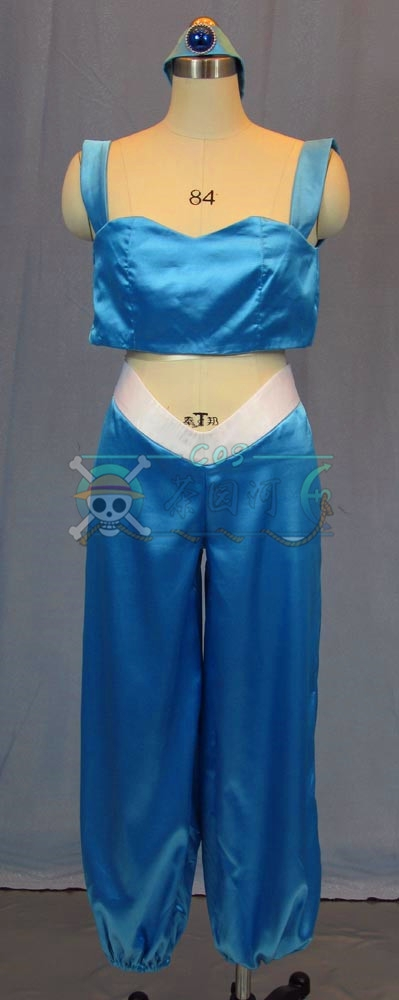 New Style Custom made Aladdin Jasmine Princess Cosplay Costume for Adults Free shipping Fairy Tale fancy