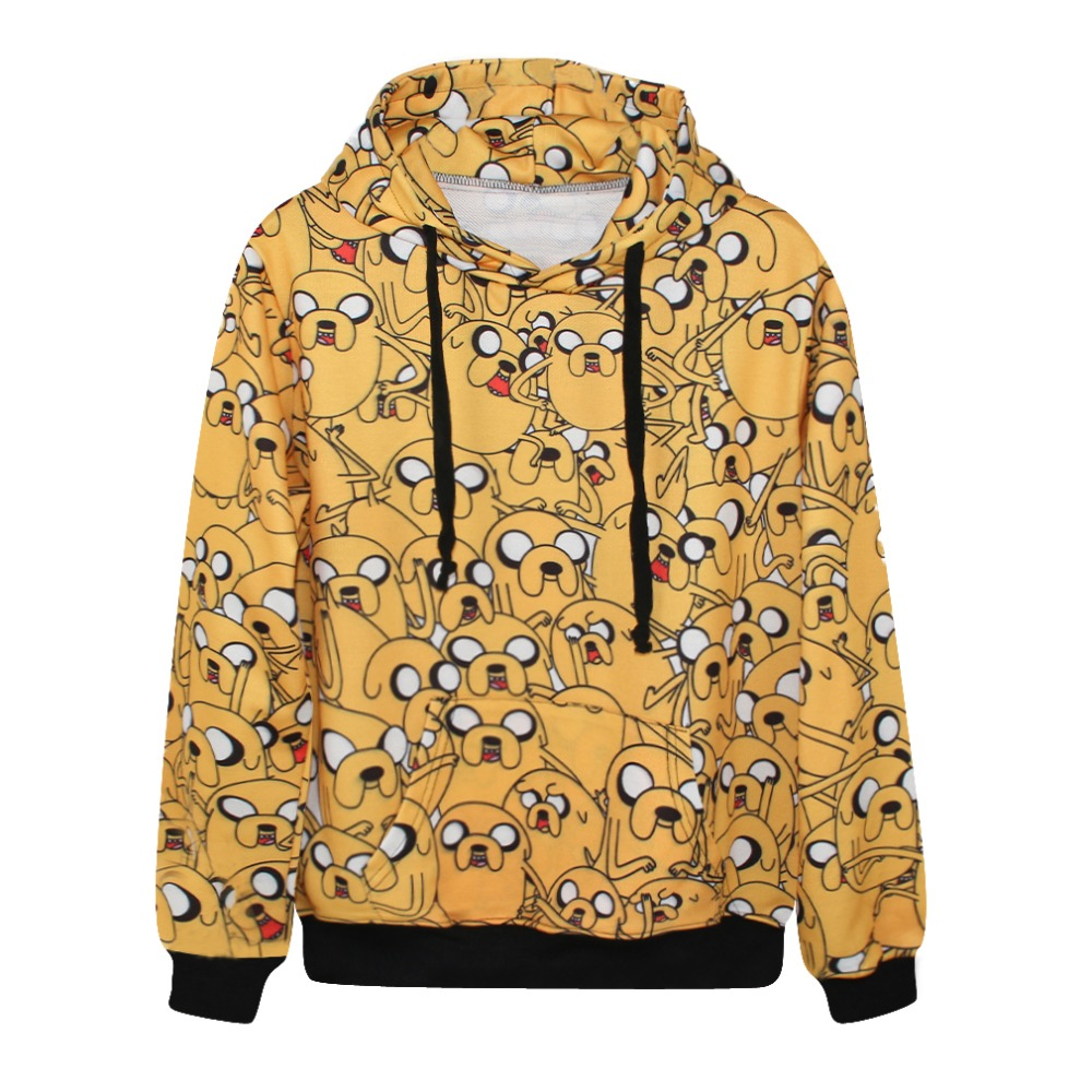 Cartoon Adventure Time Print Hoodies Sweatshirts 3D Printed Long Sleeve Unisex Streetwear Hooded Pullovers Plus Size Dropship