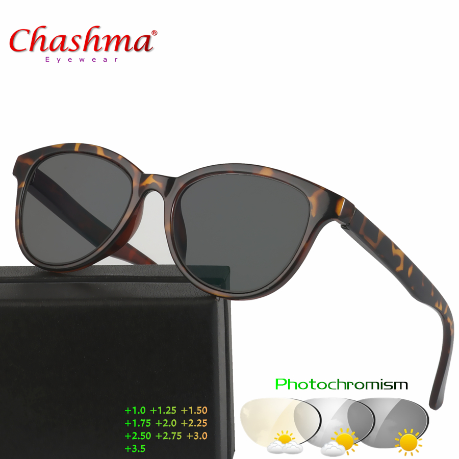 6aef84e5294 Chashma New Design Photochromic Reading Glasses Women Men Presbyopia Eyeglasses  sunglasses discoloration with Diopters