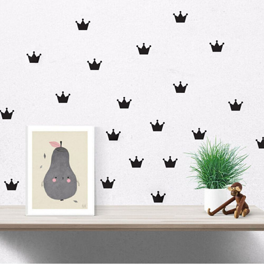 Baby Crown Wall Decor : Free shipping pcs set crown wall sticker princess baby