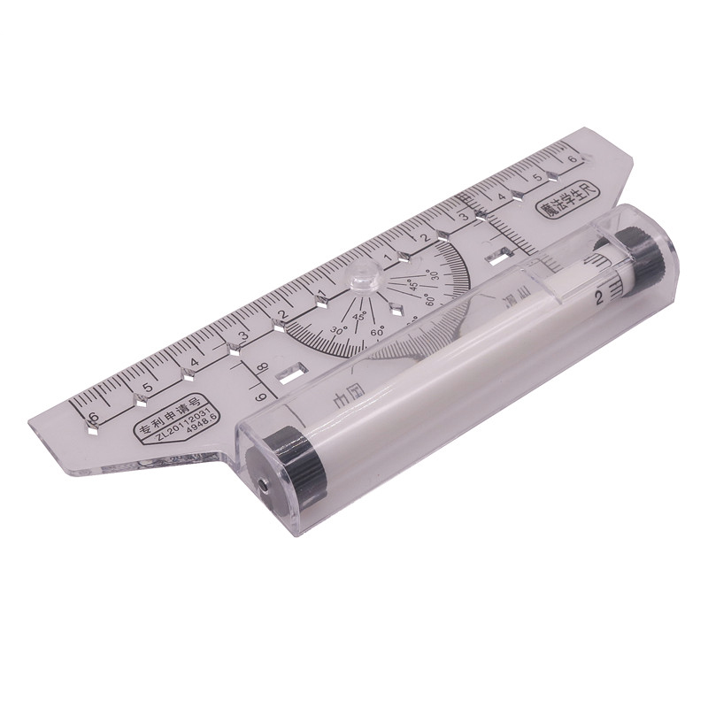 1pcs 6 + 6cm-Centering Universal Ruler Student Teachers To Practice Drawing Geometric Science And Technology Mapping Roller Foot
