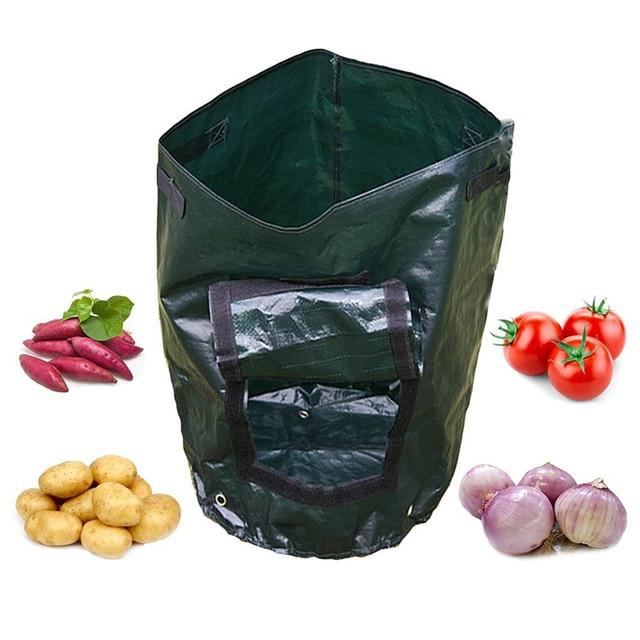 Potato Planting PE Bags Cultivation Garden Pots Planters Vegetable Planting Bags Grow Bags Farm Home Garden Supplies 1