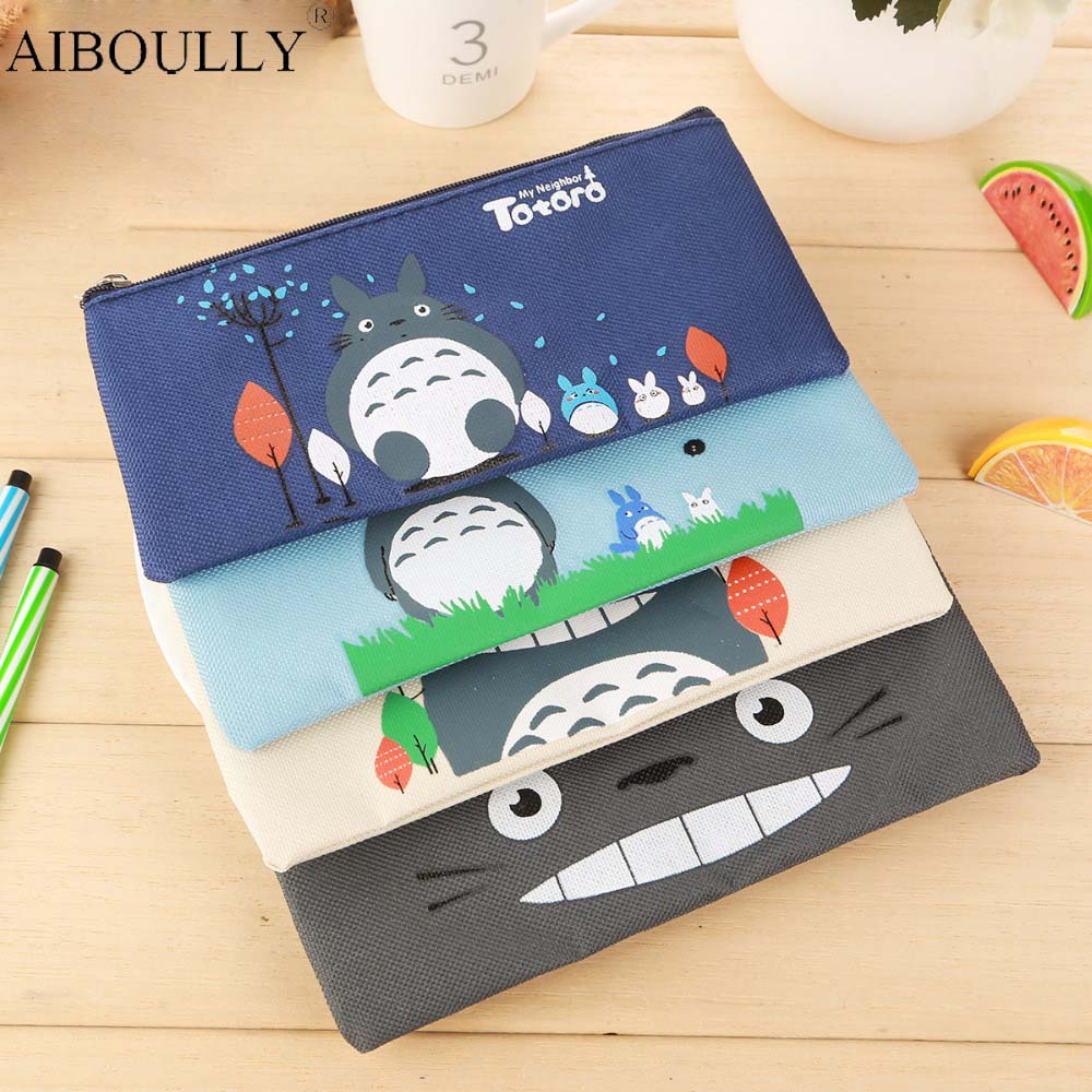 1pcs cartoon anime my neighbor totoro cute pendant kids lady girls useful gift totoro pencil case model