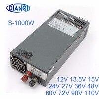 DIANQI S 1000 Switching power supply output 48v 24V 13.5V 1000w power supply transformer power supply 90V 72V 12V