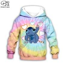 Anime kawaii Lilo Stitch 3d print Kids Cartoon heart Hoodies/zipper/child baby long sleeve sweatshirt/tshirt/summer shorts/pant anime cartoon lilo