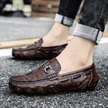 Мужские Роскошные Мокасины без застежки; повседневная обувь для вождения с мехом; зимняя теплая обувь; мужские мокасины; лоферы из натуральной кожи; большие размеры