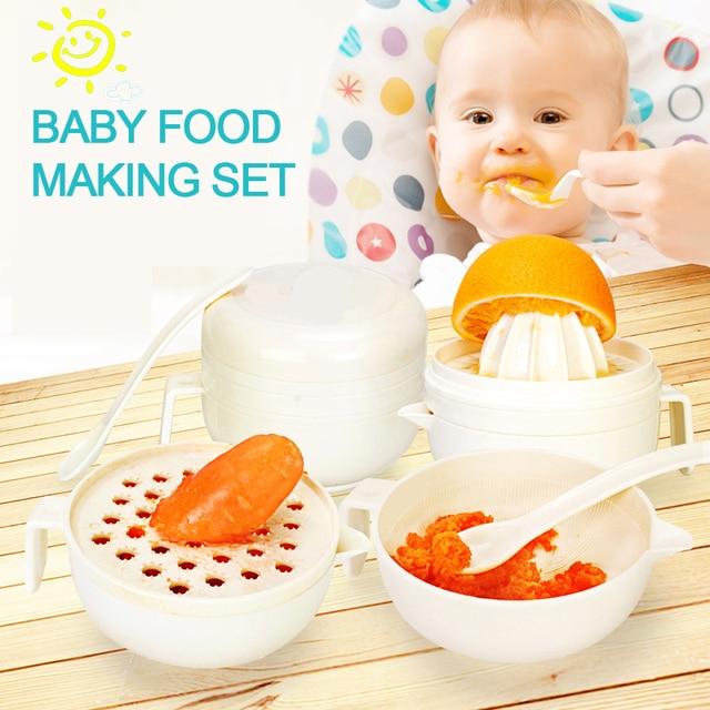 S010 free shipping Multifunctional baby food making set  baby food mill toddler food grinding bowl food mills