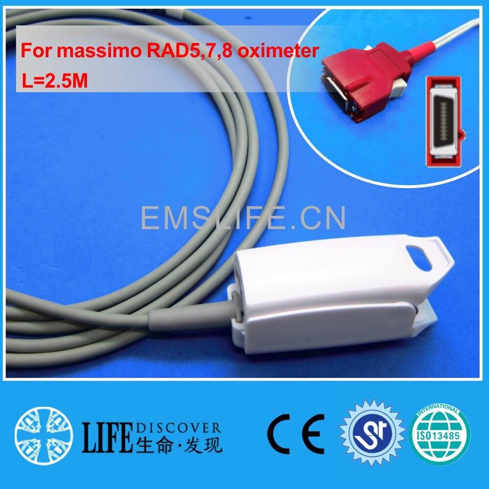 Long cable AWT adult finger clip spo2 sensor For massimo RAD5,7,8 oximeterLong cable AWT adult finger clip spo2 sensor For massimo RAD5,7,8 oximeter