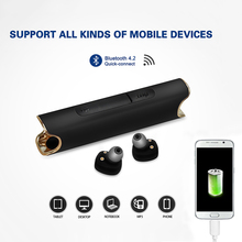 Mini Bluetooth Earphone with charge phone With Mic Bass Earphone Wireless Sports Bluetooth earphone Waterproof black red blue devia cookee bluetooth earphone black 25923