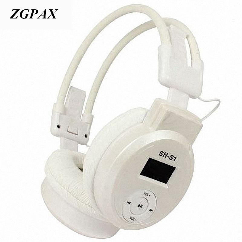 ZGPAX Sport HI-FI Cuffie Lettore MP3 AUX Auricolare + FM Radio + lettore di e00a1c37b01f