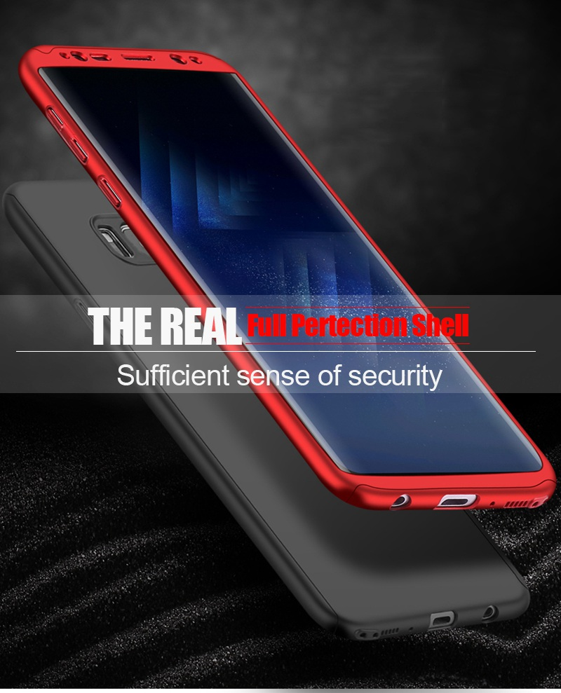 Luxury 360 Full Cover Case For Samsung Galaxy S8 S7 Plus Cases Shockproof PC With Glass TOMKAS Case For Samsung Galaxy S8    (9)