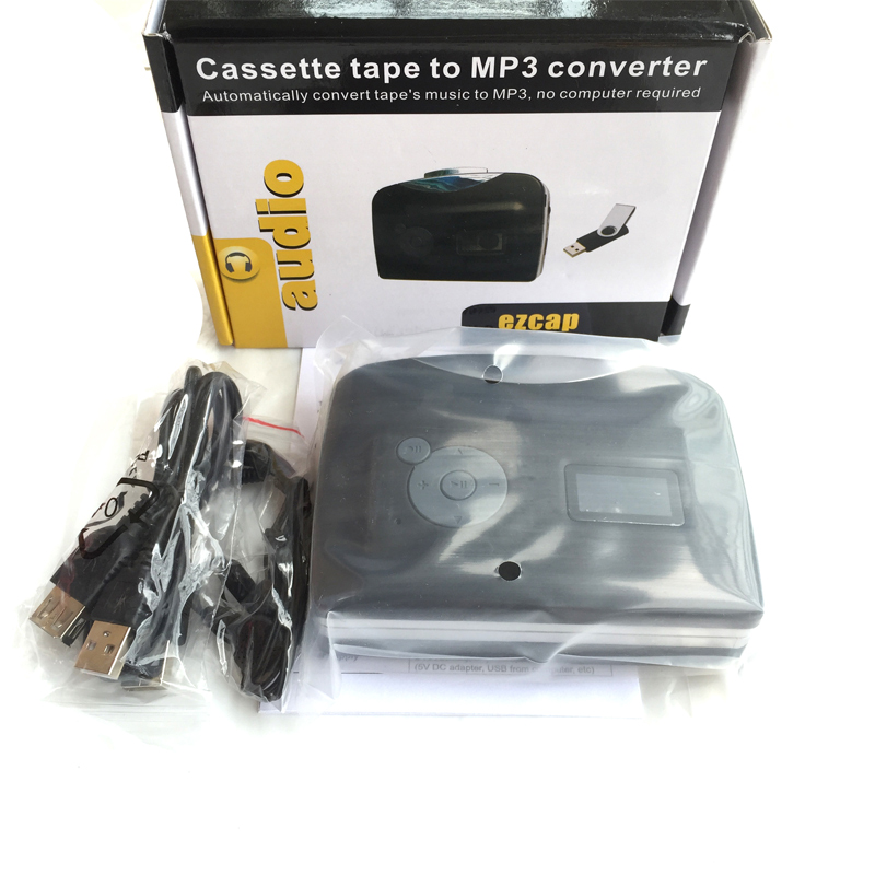 Cassette to MP3 converter, convert cassette tape to mp3 save in USB Flash disk directly, no pc required