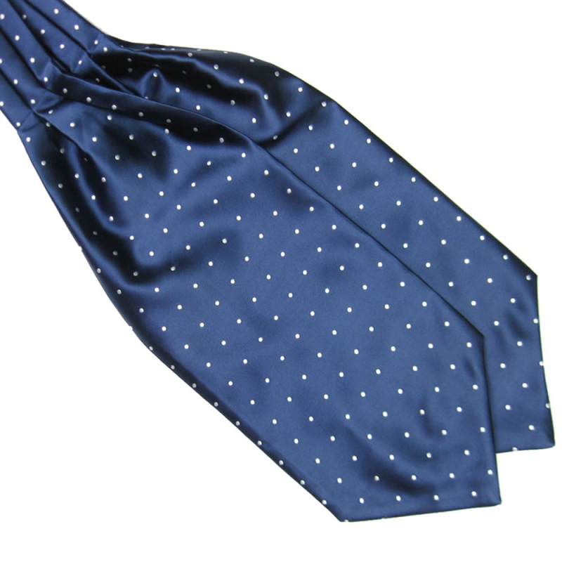 Hot Polka Dot Men Long Silk Scarves/Cravat Ascot Ties Handkerchief Gentlemen