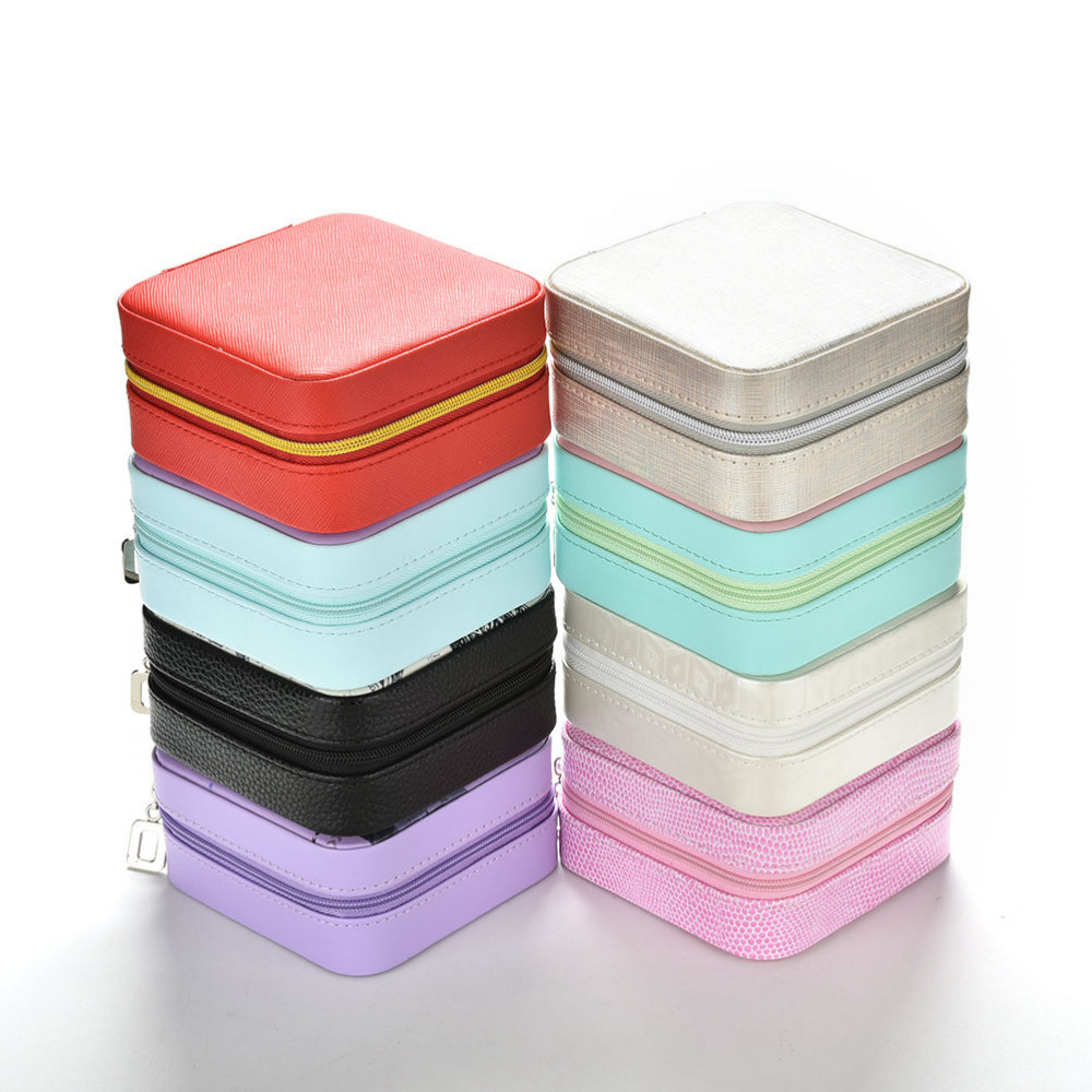 1PC Creative Jewelry Box Mini PU Leather Casket For Jewelry Travel