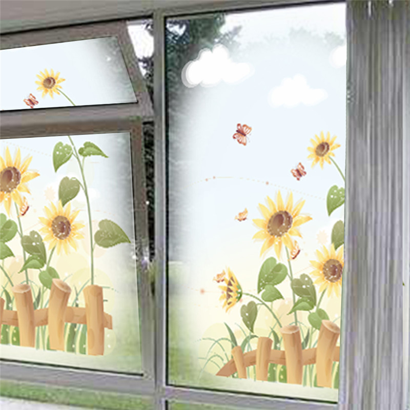 Aliexpress.com : Buy % Garden Sunflower Wall Sticker Beautiful Scenery Wall  Decal Bedroom Living Room Window Wall Art Home Decor Poster Mural From  Reliable ... Part 51