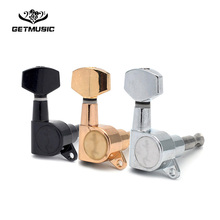 Free Shipping Guitar Sealed Small Peg Tuning Pegs Tuner Machine Heads for Acoustic Electric Parts with LOGO