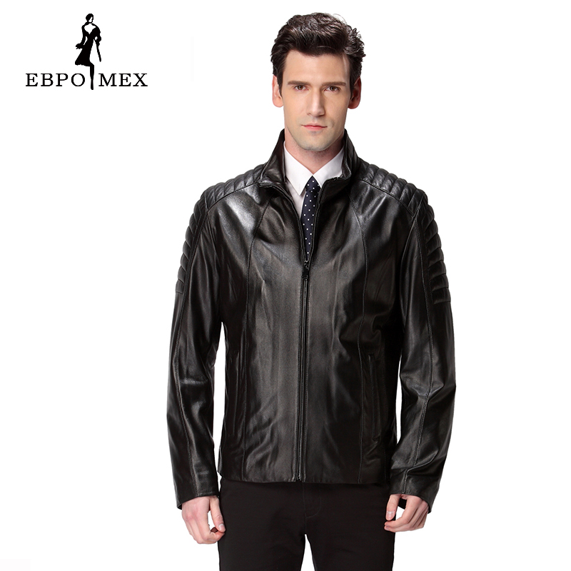 2016 Mode Herren Leder Jacke, Natürliche Farbe, Schwarz, Echtes Leder, Herren Motorrad Leder, Leder Jacke Marke Qualität
