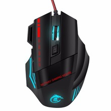 5500DPI LED Optical 7D USB Wired gaming professional Game Mouse For PC Laptop Game Gift Feb 2 Drop Ship