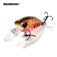 Bearking 5pcs lot professional fishing lures assorted colors minnow 32mm 2 7g Floating crankbait popper shad