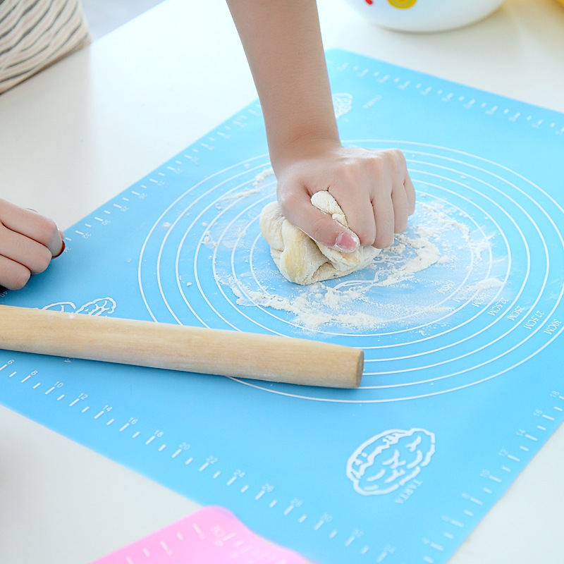 Large Size Silicone Baking Tools Soft Rolling Pastry Boards Kneading Dough Mat With Calibration High Temperature Resistant