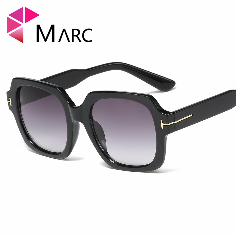 MARC 2019 Oversized Sunglasses for Women Brand Designer Retro Sun glasses Red Shades Eyewear sunglasses woman