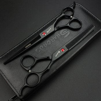 High Quality SHARONDS 7 inch Scissors Japan 440C Professional Hairdressing Scissors Hair Cutting Scissors Thinning Scissors 4 0 5 0 5 5 japan kasho 440c professional human hair scissors hairdressing scissors cutting shears thinning scissors h1017
