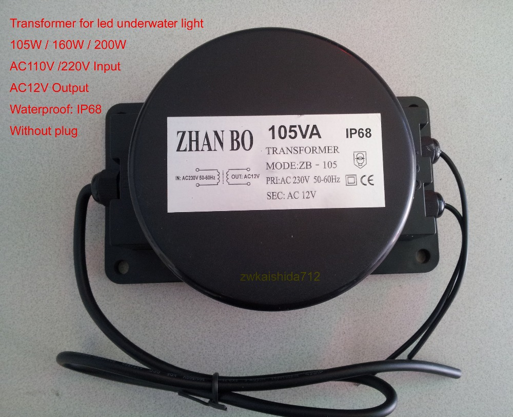 Outdoor Waterproof Transformer 105W AC12V Output for Led ...