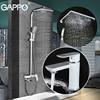 GAPPO Bathroom Shower Faucet Set Bathtub Faucet Mixer Tap Waterfall Wall Shower Head Shower Basin Faucet