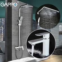 GAPPO bathroom shower faucet set bathtub faucet mixer tap waterfall wall shower head shower Basin Faucet set GA1048+GA2407-8