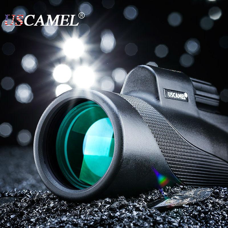 Prix pour Compact chasse monoculaire professionnelle portée grande Vision pour observer les oiseaux 10x optique étanche télescope Zoom Scalable USCAMEL