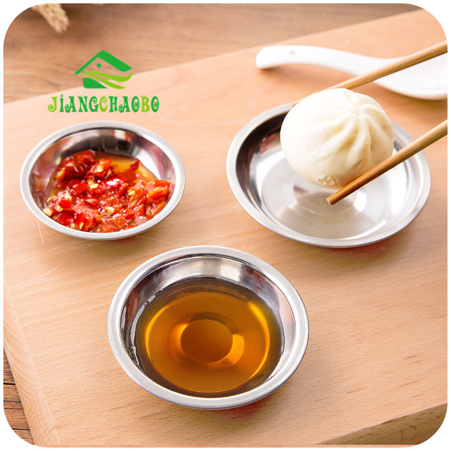 JiangChaoBo Kitchen Bowl Tool Stainless Steel Small Dishes For Tomato Sauce Salt Vinegar Sugar Flavor Spices Small Plates image