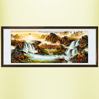 Chinese Painting Calligraphy And Painting Landscape Living Room Painting Feng Shui Landscape Painting