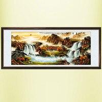 Chinesische malerei kalligraphie und malerei/landschaft/wohnzimmer malerei/feng shui landschaftsmalerei-in Malerei und Kalligraphie aus Heim und Garten bei
