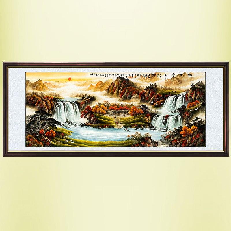 ᗛPittura cinese calligrafia e pittura/paesaggio/soggiorno pittura ...